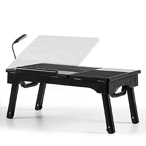 Laptoptisch klappbar inkl. LED-Beleuchtung Mauspad und Verstaufach Multifunktions Klapptisch Lapdesk