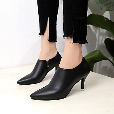 Comfort Black Casual 2 Boots 4in amp;xuezi Red Stiletto Heel 3 Zipper Fall Women's 2in Gll PU Black aqtUf