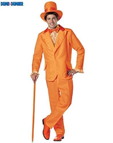 [Rasta Imposta Dumb and Dumber Lloyd Christmas Tuxedo Costume, Orange, One Size] (Mens Owl Costumes)
