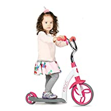 Vokul Pink Gx01 Mini Kick 2 Wheel Scooter Mini Kick Scooter with Big Wheel for Age 2-5
