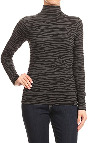 WHITE APPAREL 2ND Date Womens Long Sleeve Layering Mock Turtleneck Top - One Size