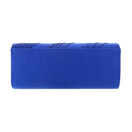 Clutch Crystal Damara Blue Bag Evening Banquet Pleats in Womens tqtES
