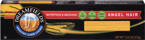 Dreamfields Pasta Angel Hair, 13.25 Ounce Boxes (Pack of 10)