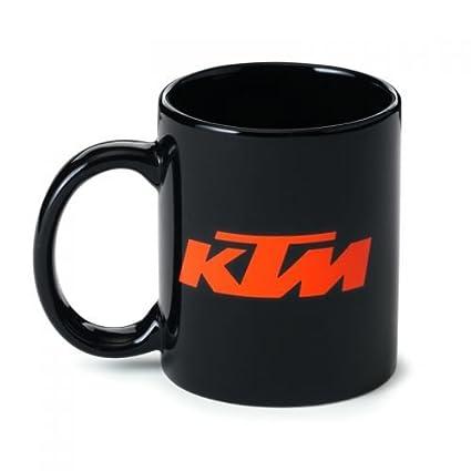 KTM Mug Black Taza de café Negro con Logo: Amazon.es: Coche ...