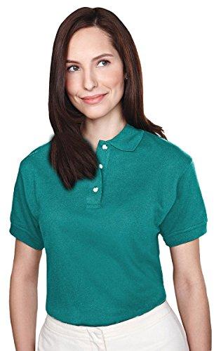 (Tri-mountain Womens 60/40 pique golf shirt. 102TM - JADE_M)