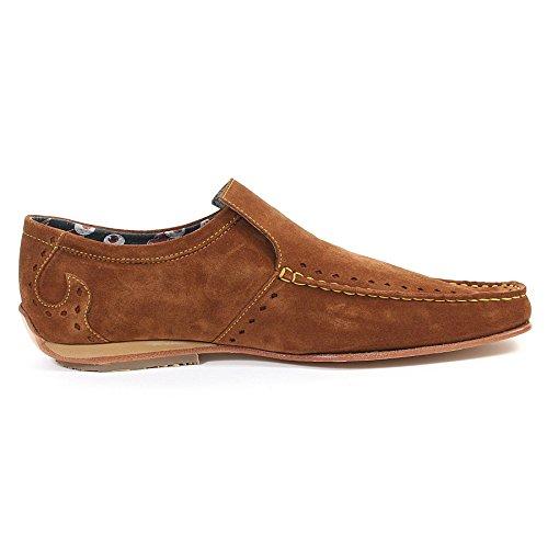 Jeffery West Mens 8776 Suede Slip On Loafer Tan / Brown Brown