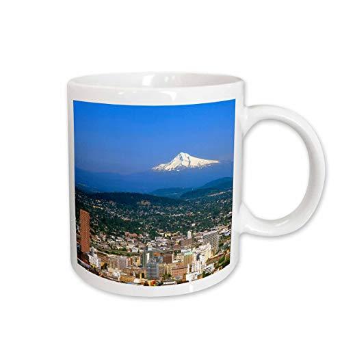 3dRose USA, Oregon, Portland City Skyline and Mt. Hood US38 BJA0166 Jaynes Gallery Mug, 11-Ounce ()