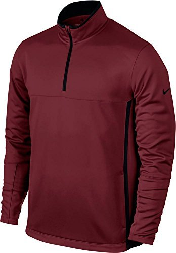 Therma Fit Jacket - Nike Golf CLOSEOUT Men's Therma-Fit Cover-Up (Team Red/Black) 686085-677 (Small)