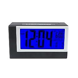 LED Digital Desk Alarm Clock Smart Backlight Snooze Alarm Clocks with Date & Temperature (2561 Desk Alarm Clock)