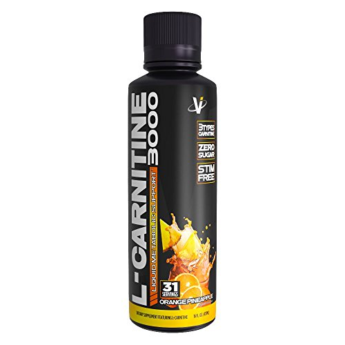 VMI Sports L-Carnitine 3000 Liquid Metabolic Enhancer, 31 Servings, Weight Loss Supplement to Burn Fat, for Men & Women, Stimulant Free Metabolism Enhancement, Acetyl-L-Carnitine (Orange Pineapple)