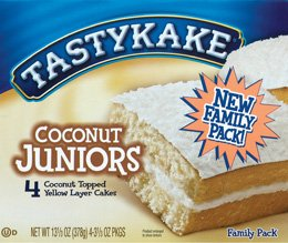 Tastykake Coconut Juniors 3 boxes 12 cakes