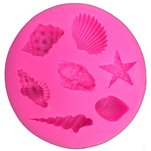 - Silicone Mold - 1 Piece Seashells Starfish Conch Shape Fondant Silicone Mold For Kitchen Baking Chocolate Pastry Candy Clay Making Decoration Tool - RANDOM COLOR