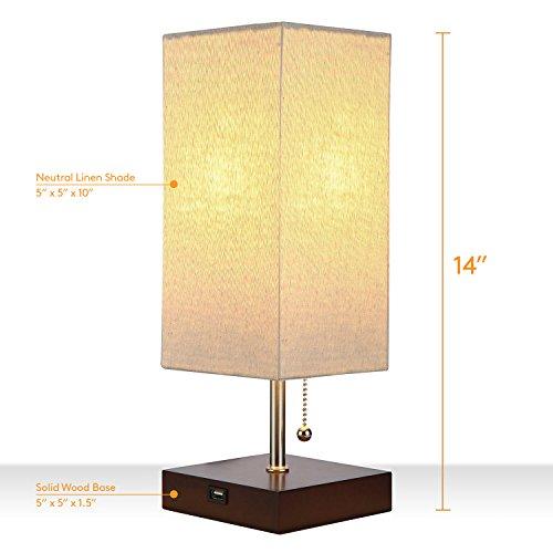 Brightech Grace Led Usb Bedside Table Amp Desk Lamp Modern