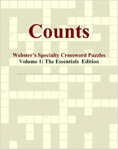 Book Counts - Webster's Specialty Crossword Puzzles, Volume 1: The Essentials Edition