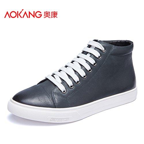 Aemember Chaussures D'hommes Automne Hiver Haut Aider Les Chaussures De Tous Les Jours Pour Les Loisirs, À L'adolescence Noir.
