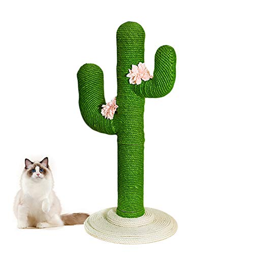 VETRESKA Cat Tree 41 Inch Cactus Cat Scratching Post for Cats and Kittens, Entertainment Playground Furniture, Large