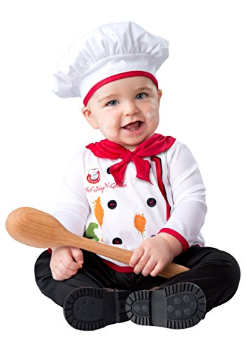 In Character Halloween Costumes (In Character unisex-baby Infant Hugs and Quiches Chef Costume X-Small)