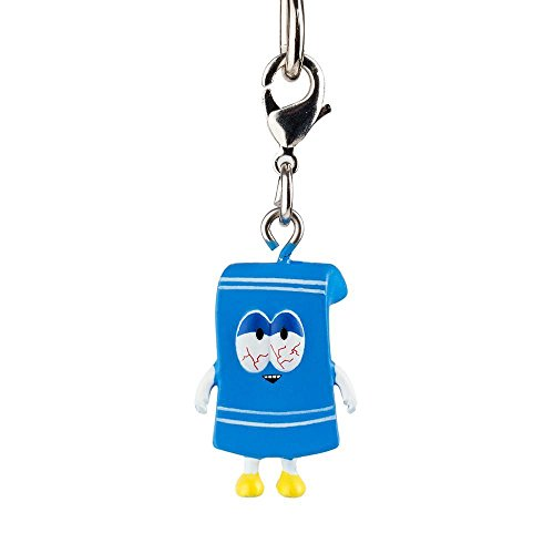 Stoned Towelie Rare Chase ?/?? Odds - South Park Zipper Pull / Keychain Series 2 by Kidrobot Opened Blind Box]()