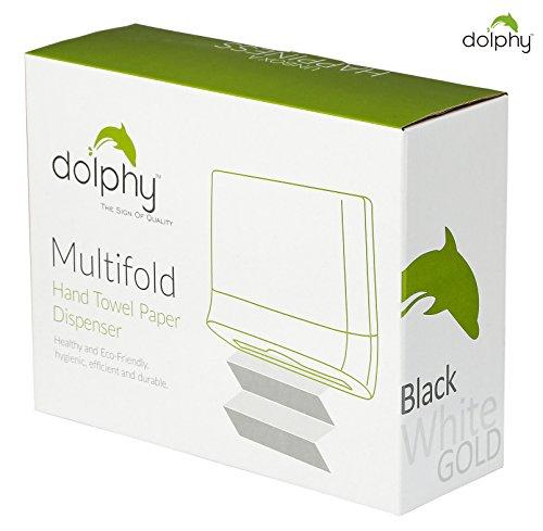Dolphy Multifold Mini Hand Towel Paper Dispenser Black 5