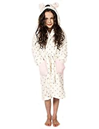 Girls Plush Hooded Mouse Robe