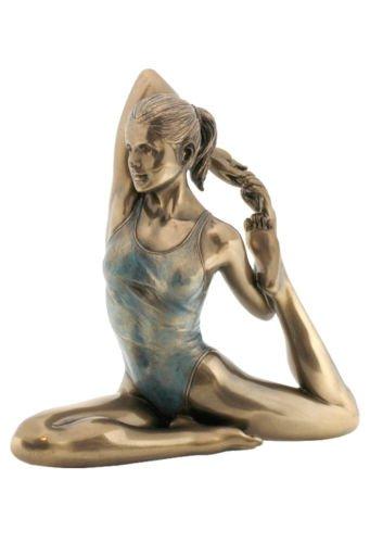 5.25'' Yoga One Legged King PIgeon Pose Statue Figurine Decor Women Collectible