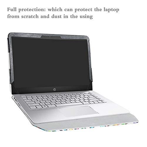 Alapmk Protective Case Cover for 14'' HP Pavilion 14 14-bkXXX (14-bk000 to 14-bk999,Such as 14-bk061st 14-bk063st) Series Laptop[Warning:Not fit Pavilion 14 14-bXXX 14-abXXX 14-bfXXX],Love Tree by Alapmk (Image #4)