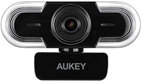 Mac OS and Android Manual Focus Recording and Streaming Compatible with Windows AUKEY Webcam 2K HD with Microphone Auto Light Adjustment USB Web Camera for Video Chat