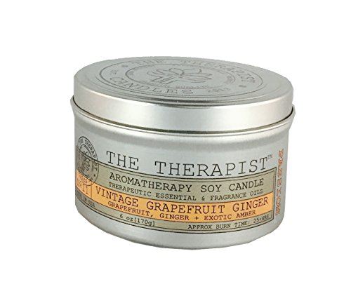The Therapist Candles 655003977486 6 Oz No. 11 Vintage Grapefruit Ginger Soy Candle, Silver by The Therapist Candles