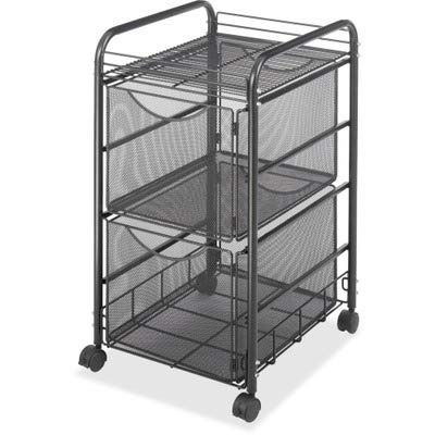 SAF5212BL - Safco Onyx Double Mesh Mobile File Cart
