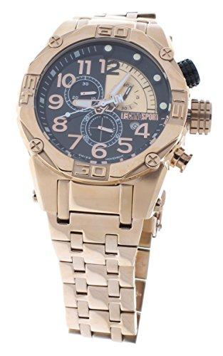 Technosport TS-560-8 Men's Rose Gold Stainless Steel Watch 46mm Swiss Chronograph