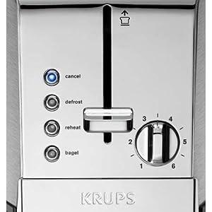 KRUPS Stainless Steel Toaster KH734D50