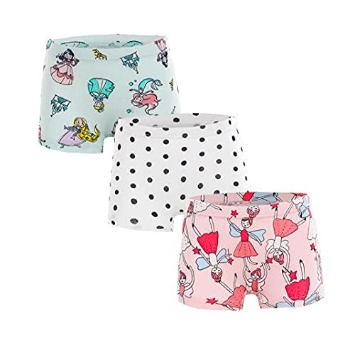 NIDONE Baby Meisje Ondergoed Boxer Baby Ondergoed Peuter Gedrukt Katoen Ondergoed Roze 100cm 3 STKS