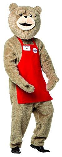 Rasta Imposta Men's Ted 2 Kit-Apron, Red, One Size