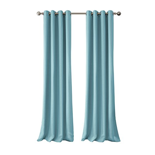 Elrene Home Fashions Connor Indoor/Outdoor Solid Grommet Panel Window Curtain 52'' x 108'' (1), Turquoise by Elrene (Image #2)