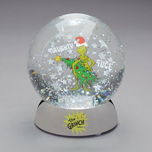 Department 56 Grinch Naughty or Nice Water Dazzler. Snow Globe, Multicolor -