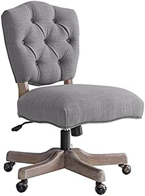 Awe Inspiring Amazon Com Riverbay Furniture Tufted Swivel Office Chair Ocoug Best Dining Table And Chair Ideas Images Ocougorg