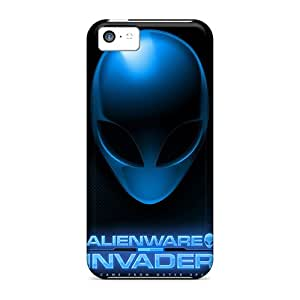 Excellent Hard Cell-phone Cases For Iphone 5c (NbD5853nFlY) Unique Design Attractive Alienware Pictures