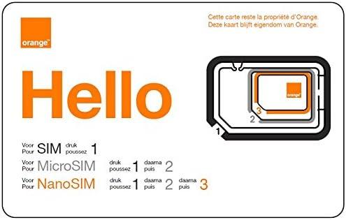 orange carte sim prépayée Orange Belgique Carte Sim prépayée avec nouveau numéro et 15 € de