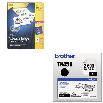 KITAVE5870BRTTN450 - Value Kit - Avery Two-Side Printable Clean Edge Business Cards (AVE5870) and Brother TN450 TN-450 High-Yield Toner (BRTTN450) by Avery