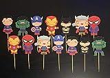 Super Heroes Cupcake toppers/Avengers Cupcake Toppers/Super Heroes party supplies/Super heroes Inspired