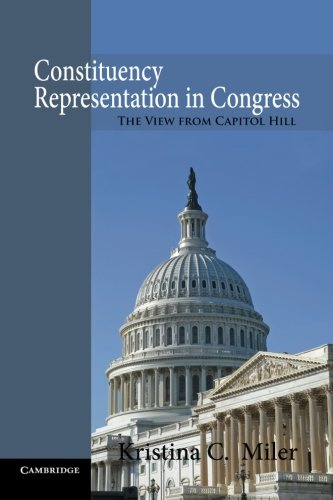 Download Constituency Representation in Congress: The View from Capitol Hill pdf