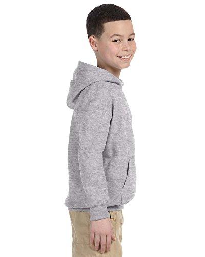 Gildan Kids' Little Hooded Youth Sweatshirt, Sport Grey, Small