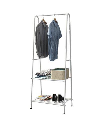 MULSH Clothing Garment Rack Coat Organizer Storage Shelving