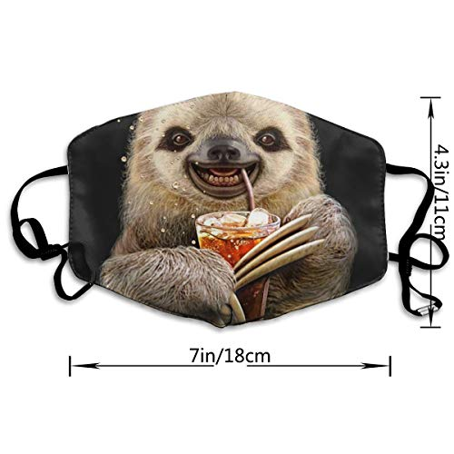 NOT Sloth Juice PM2.5 Mask, Adjustable Warm Face Mask Unique Cover Filters Blocking Pollen Pollution Germs,Can Be Washed Reusable Pollen Masks Cotton Mouth Mask for Men Women