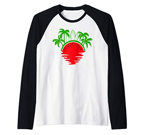 Watermelon Shirt Womens Mens Girls Boys Kids Best Cute Funny Raglan Baseball Tee -