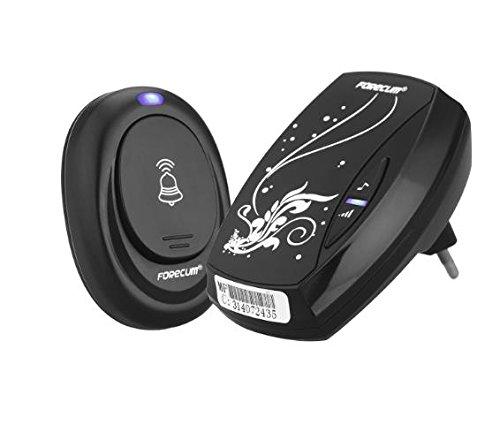 Etbotu Wireless Door Bell 100M Remote Control Range Waterproof Intelligent Doorbell Transmitter Receiver EU Plug
