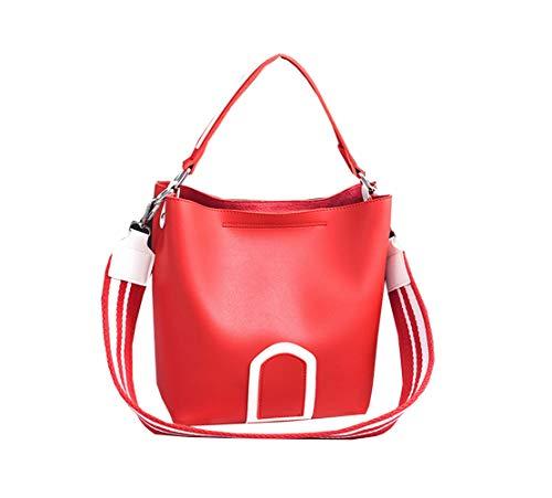 Cinghia Shopper Tracolla Classica Pu Borse Metallo Lmpermeabile a Classici Fashion Messenger Red Donna Borse Unicolor Borse Xiuy Mano Spalla a Borse Personalizzati Borse Secchiello Y8FBq7