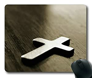 Lilyshouse Christian Cross Rectangle Mouse Pad by mcsharks