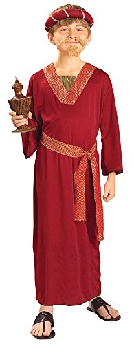 Burgundy Wiseman Child Costume (Kids-Costume Burgundy Wiseman Child Costume Lg Halloween)