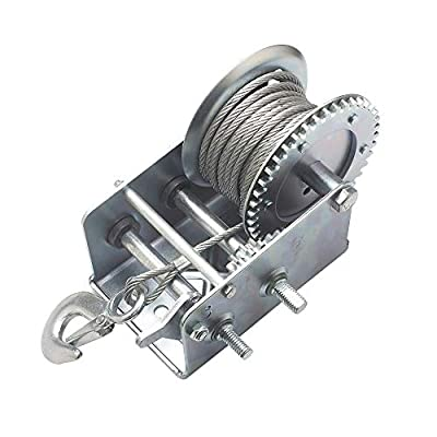 OPENROAD Hand Winch Crank Gear Winch, Heavy Duty, up to 2500 lbs for Trailer, Boat or ATV: Home Improvement